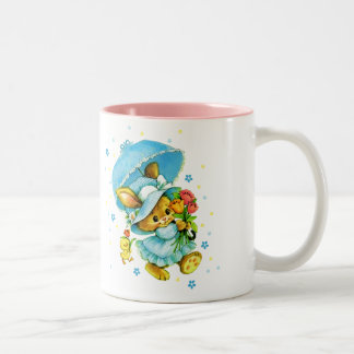 Vintage Easter Bunny and Chick. Easter Gift Mugs