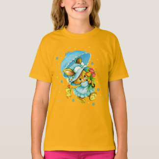 Vintage Easter Bunny and Chick. Gift Kids' T-Shirt