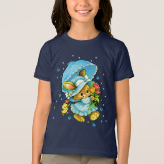 Vintage Easter Bunny and Chick. Gift Kids T-Shirts