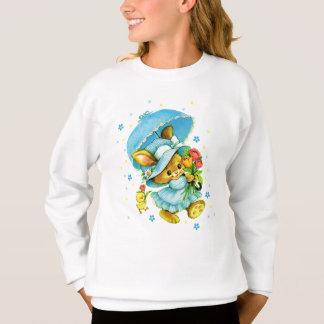 Vintage Easter Bunny and Chick. Kids Sweatshirt