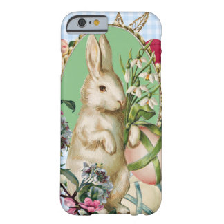 Vintage Easter Bunny and Eggs Collage Barely There iPhone 6 Case