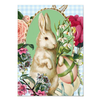 Vintage Easter Bunny and Eggs Collage Card
