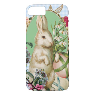 Vintage Easter Bunny and Eggs Collage iPhone 7 Case