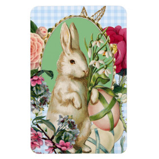 Vintage Easter Bunny and Eggs Collage Magnet