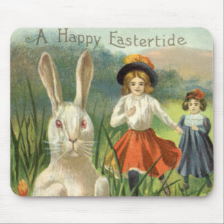 Vintage Easter Bunny and Eggs, Happy Eastertide Mouse Pad