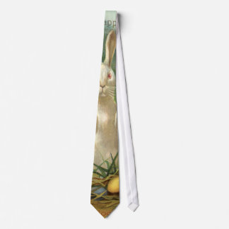 Vintage Easter Bunny and Eggs, Happy Eastertide Neck Tie