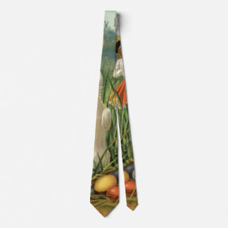 Vintage Easter Bunny and Eggs, Happy Eastertide Tie