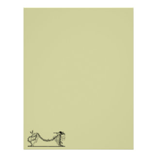 Vintage Easter Bunny And Spring Letterhead Paper 1