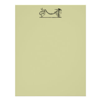 Vintage Easter Bunny And Spring Letterhead Paper 2