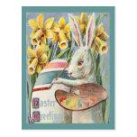 Vintage Easter Bunny Artist Postcard