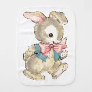 Vintage Easter Bunny Baby Burp Cloth