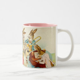 Easter bunny band gifts on zazzle vintage easter bunny band mug negle Choice Image