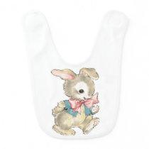Vintage Easter Bunny Bib