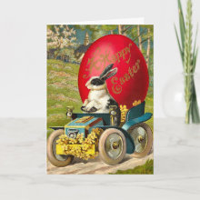 Adorable Vintage Easter Bunny Card - Happy Easter Everyone!