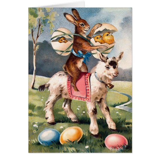 Vintage Easter Bunny Card