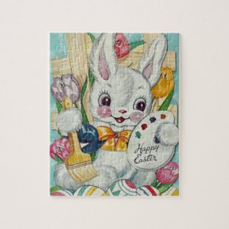 Vintage Easter Bunny Card Jigsaw Puzzle