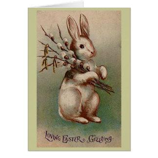 Vintage Easter Bunny Card, Loving Greeting Card