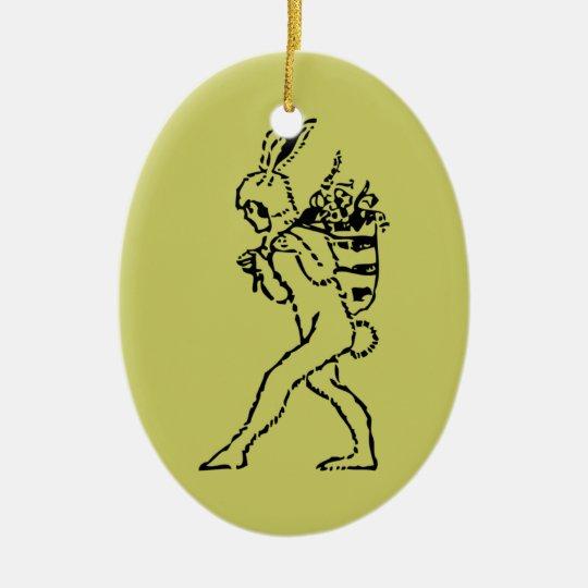 Vintage Easter Bunny Ceramic Ornament