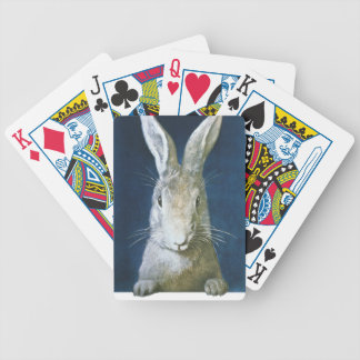 Vintage Easter Bunny, Cute Furry White Rabbit Bicycle Playing Cards