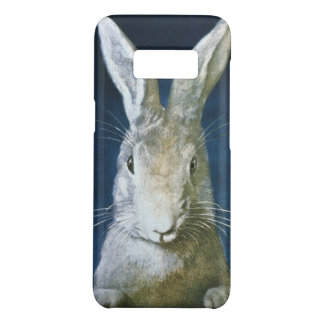 Vintage Easter Bunny, Cute Furry White Rabbit Case-Mate Samsung Galaxy S8 Case