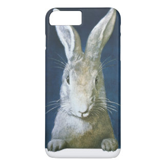 Vintage Easter Bunny, Cute Furry White Rabbit iPhone 8 Plus/7 Plus Case