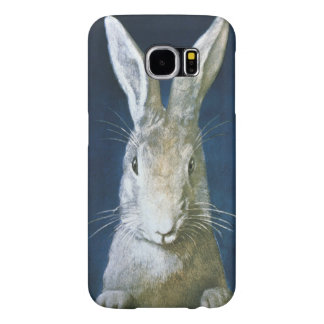 Vintage Easter Bunny, Cute Furry White Rabbit Samsung Galaxy S6 Case