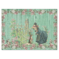 Vintage Easter Bunny Decoupage Tissue Paper