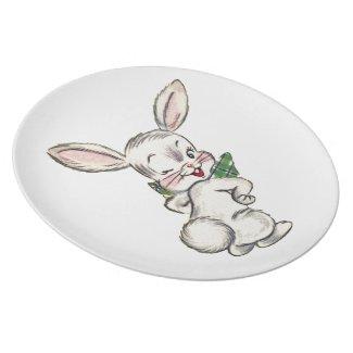 Vintage Easter Bunny Dinner Plate