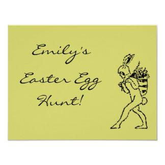 Vintage Easter Bunny Easter Egg Hunt Invitation