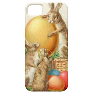 Vintage Easter Bunny Easter Eggs Easter Card iPhone SE/5/5s Case
