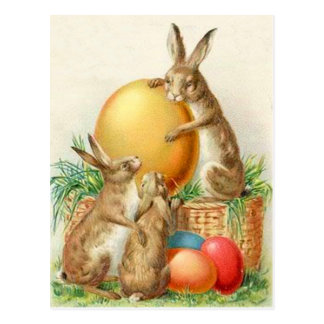 Vintage Easter Bunny Easter Eggs Easter Card Post Card