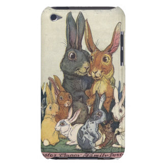 Vintage Easter bunny family Barely There iPod Covers