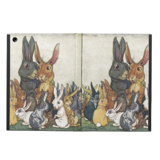 Vintage Easter bunny family Case For iPad Air