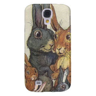 Vintage Easter bunny family Galaxy S4 Cover