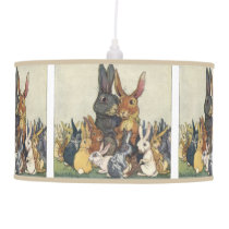 Vintage Easter bunny family Hanging Lamp