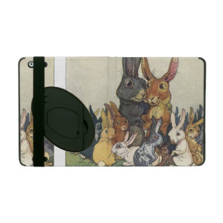 Vintage Easter bunny family iPad Cases