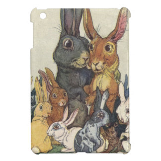 Vintage Easter bunny family iPad Mini Cover