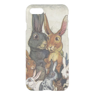 Vintage Easter bunny family iPhone 7 Case