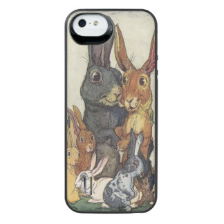 Vintage Easter bunny family iPhone SE/5/5s Battery Case