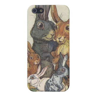 Vintage Easter bunny family iPhone SE/5/5s Case