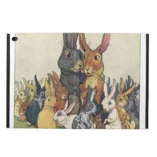 Vintage Easter bunny family Powis iPad Air 2 Case