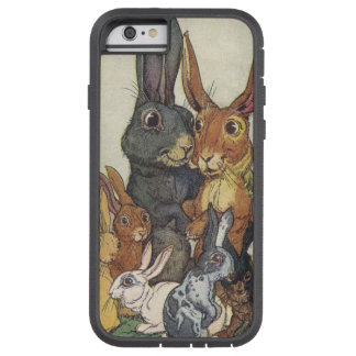 Vintage Easter bunny family Tough Xtreme iPhone 6 Case