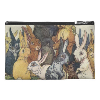 Vintage Easter bunny family Travel Accessory Bag