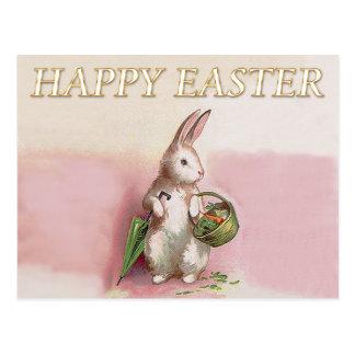Vintage Easter Bunny Greeting Postcard