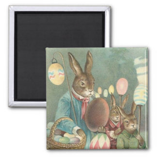 Vintage Easter Bunny Holiday magnet