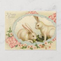 Vintage Easter Bunny Holiday Postcard