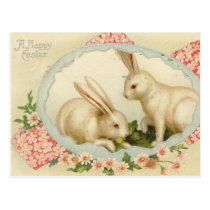 Vintage Easter Bunny Holiday Postcard