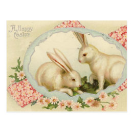 Vintage holiday gifts on zazzle vintage easter bunny holiday postcard negle Choice Image