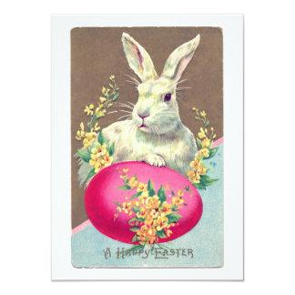Vintage Easter Bunny Illustration Card