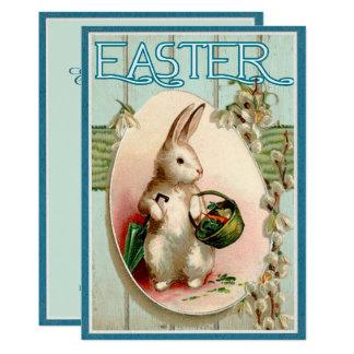 Vintage Easter Bunny Illustration Invitation